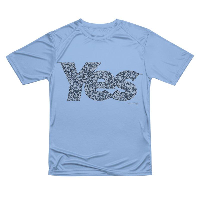 Yes - One Continuous Line Women's Performance Unisex T-Shirt by Daniel Dugan's Artist Shop