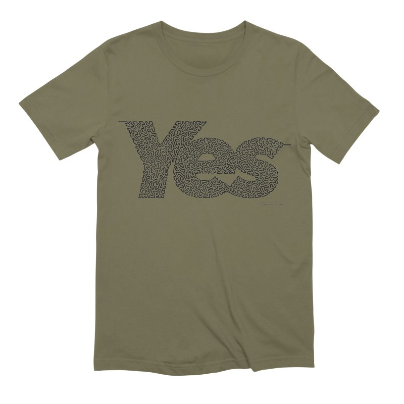 Yes - One Continuous Line Men's Extra Soft T-Shirt by Daniel Dugan's Artist Shop