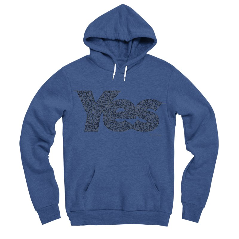 Yes - One Continuous Line Women's Sponge Fleece Pullover Hoody by Daniel Dugan's Artist Shop