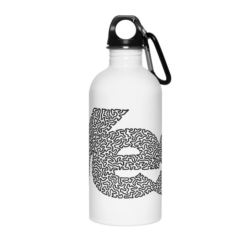 Yes - One Continuous Line Accessories Water Bottle by Daniel Dugan's Artist Shop