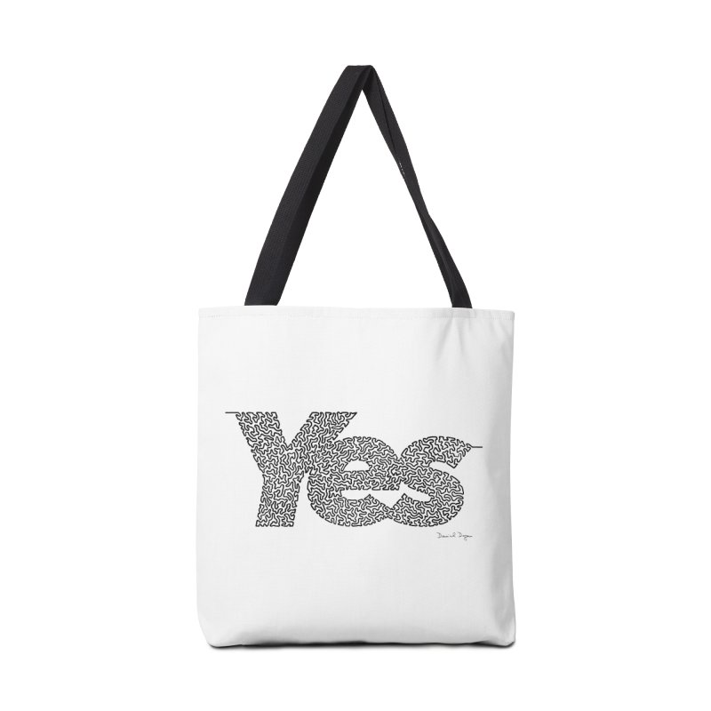 Yes - One Continuous Line Accessories Tote Bag Bag by Daniel Dugan's Artist Shop