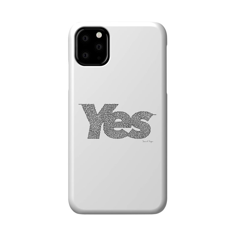 Yes - One Continuous Line Accessories Phone Case by Daniel Dugan's Artist Shop