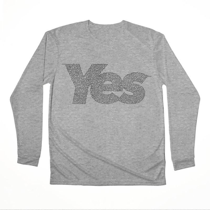 Yes - One Continuous Line Women's Performance Unisex Longsleeve T-Shirt by Daniel Dugan's Artist Shop