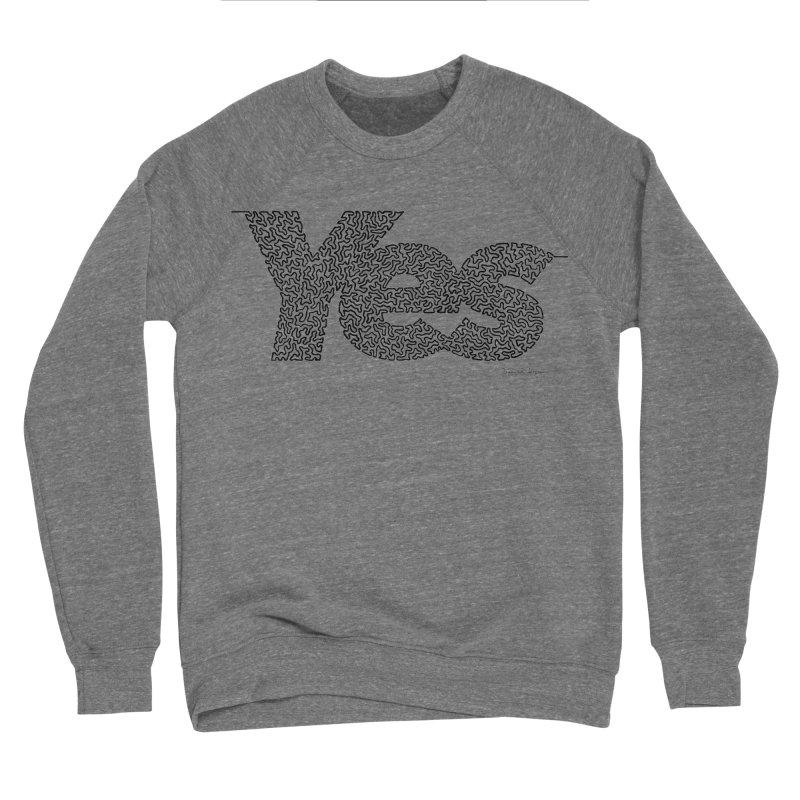 Yes - One Continuous Line Men's Sponge Fleece Sweatshirt by Daniel Dugan's Artist Shop