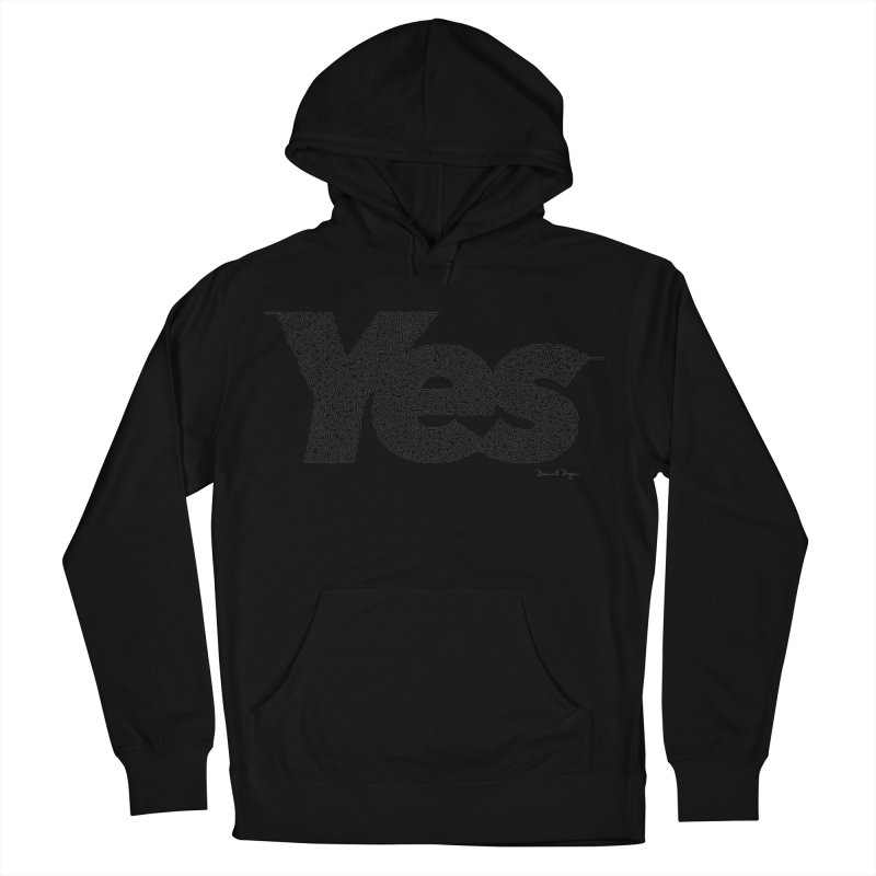 Yes - One Continuous Line Women's French Terry Pullover Hoody by Daniel Dugan's Artist Shop