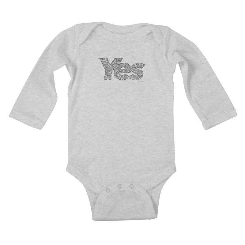 Yes - One Continuous Line Kids Baby Longsleeve Bodysuit by Daniel Dugan's Artist Shop
