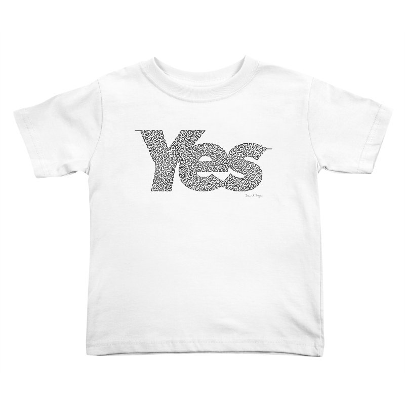 Yes - One Continuous Line Kids Toddler T-Shirt by Daniel Dugan's Artist Shop