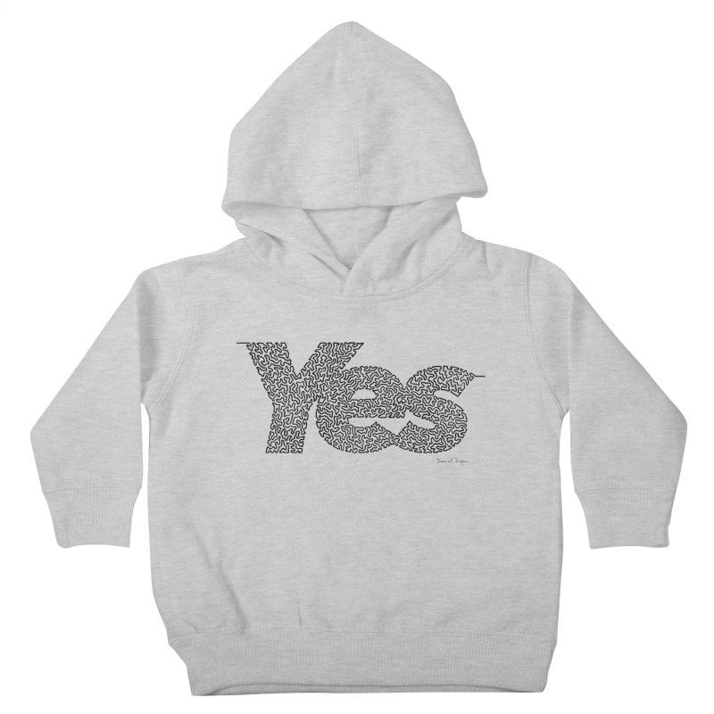 Yes - One Continuous Line Kids Toddler Pullover Hoody by Daniel Dugan's Artist Shop