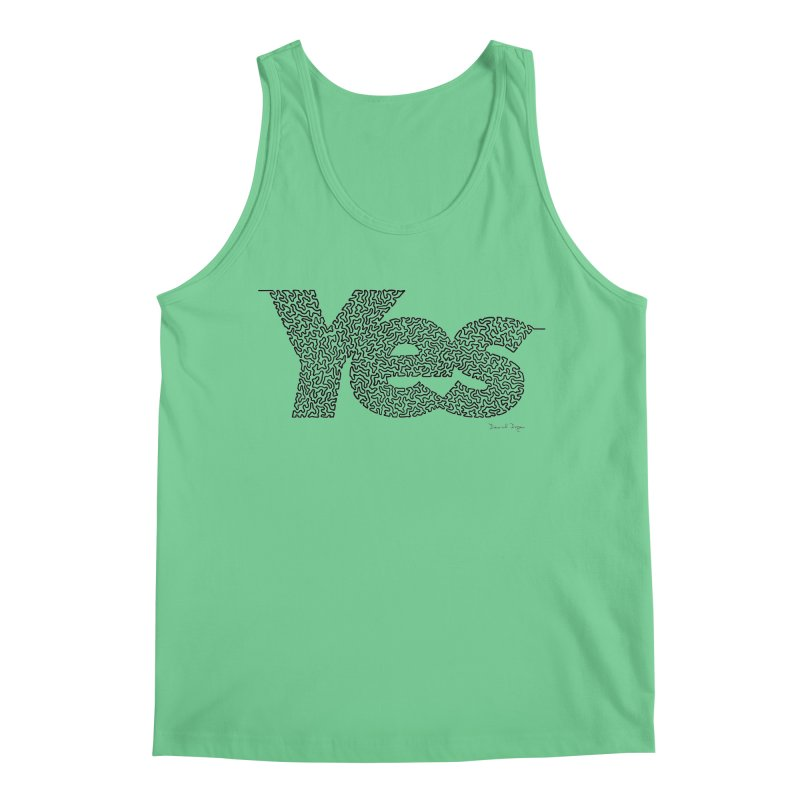 Yes - One Continuous Line Men's Regular Tank by Daniel Dugan's Artist Shop