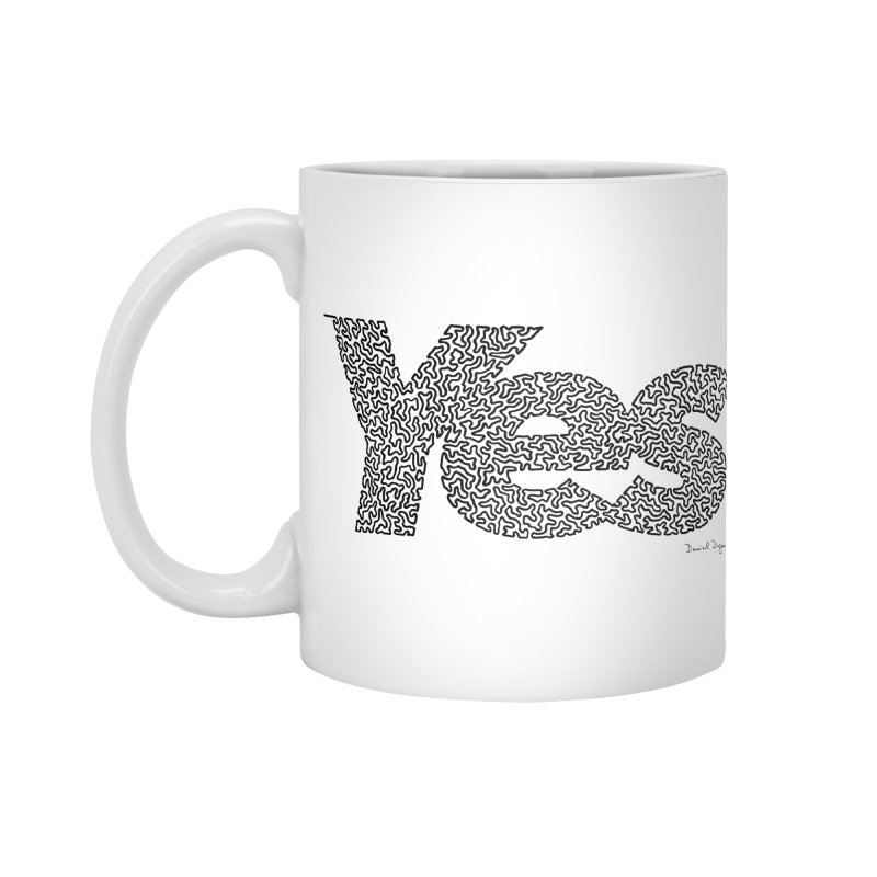 Yes - One Continuous Line Accessories Standard Mug by Daniel Dugan's Artist Shop