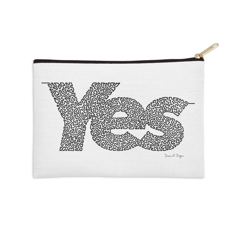 Yes - One Continuous Line Accessories Zip Pouch by Daniel Dugan's Artist Shop