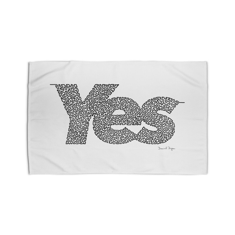 Yes - One Continuous Line Home Rug by Daniel Dugan's Artist Shop