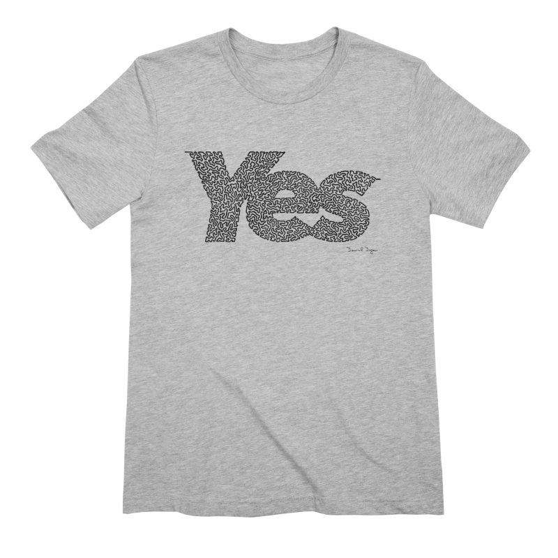 Yes Men's Extra Soft T-Shirt by Daniel Dugan's Artist Shop
