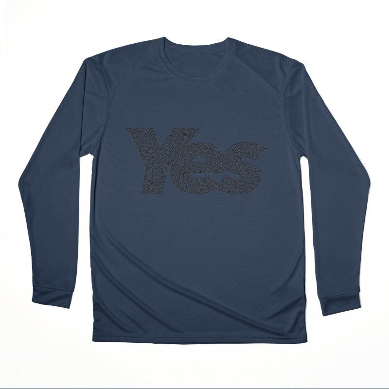 Yes Women's Performance Unisex Longsleeve T-Shirt by Daniel Dugan's Artist Shop