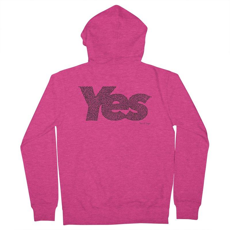 Yes Women's French Terry Zip-Up Hoody by Daniel Dugan's Artist Shop