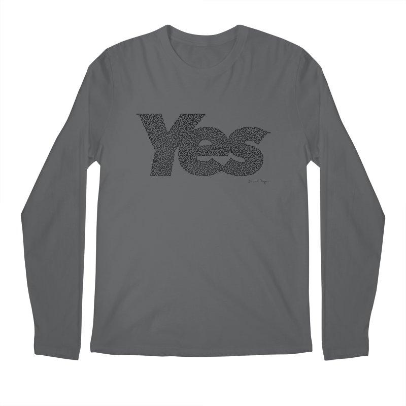 Yes Men's Longsleeve T-Shirt by Daniel Dugan's Artist Shop