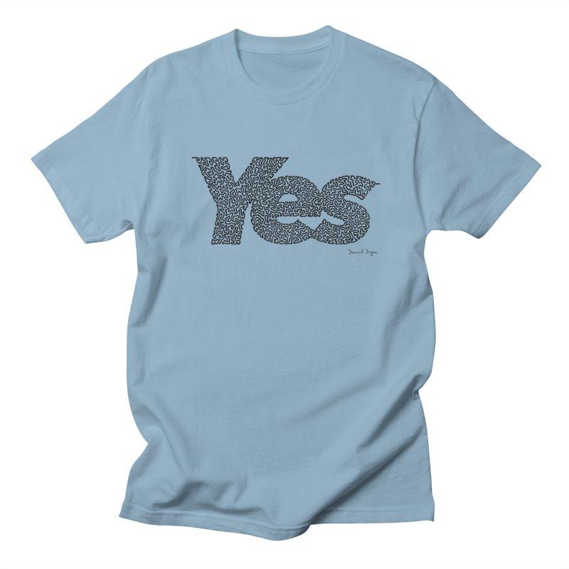 Yes Men's Regular T-Shirt by Daniel Dugan's Artist Shop