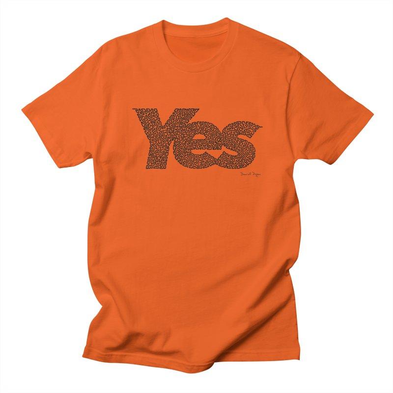 Yes Women's Regular Unisex T-Shirt by Daniel Dugan's Artist Shop