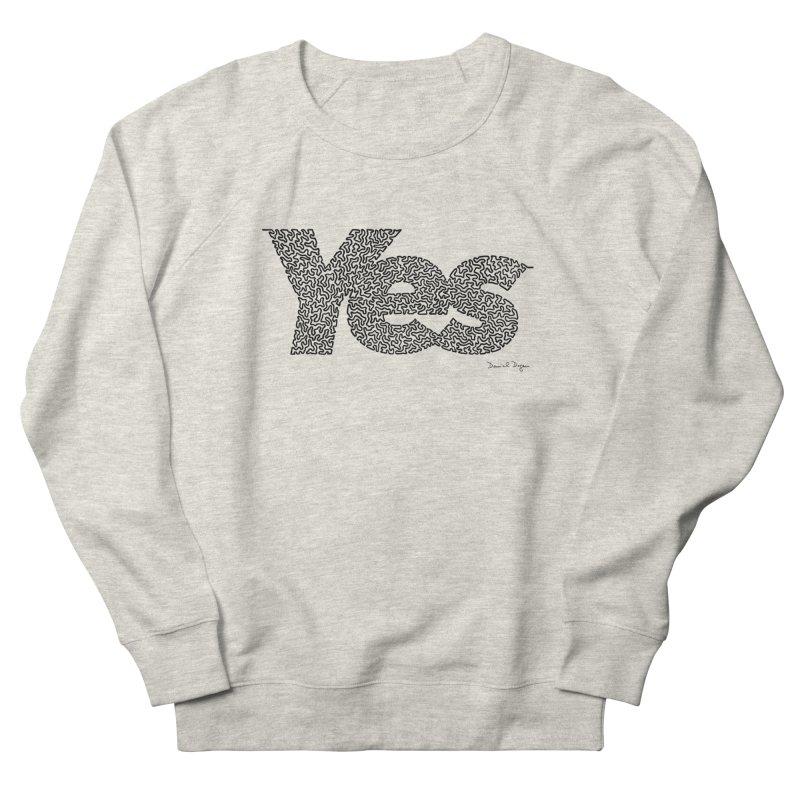 Yes Men's French Terry Sweatshirt by Daniel Dugan's Artist Shop