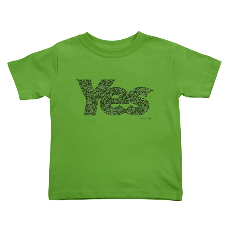Yes Kids Toddler T-Shirt by Daniel Dugan's Artist Shop