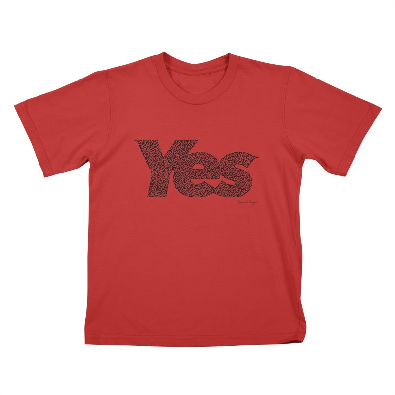 Yes Kids T-Shirt by Daniel Dugan's Artist Shop