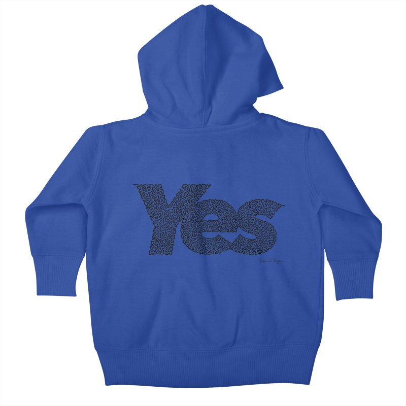 Yes Kids Baby Zip-Up Hoody by Daniel Dugan's Artist Shop