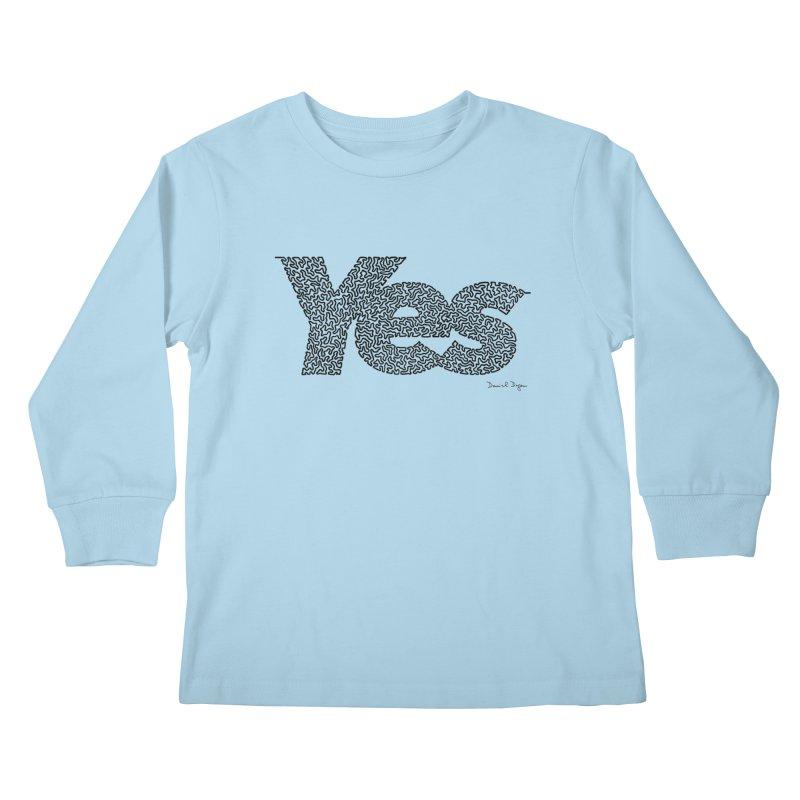 Yes Kids Longsleeve T-Shirt by Daniel Dugan's Artist Shop