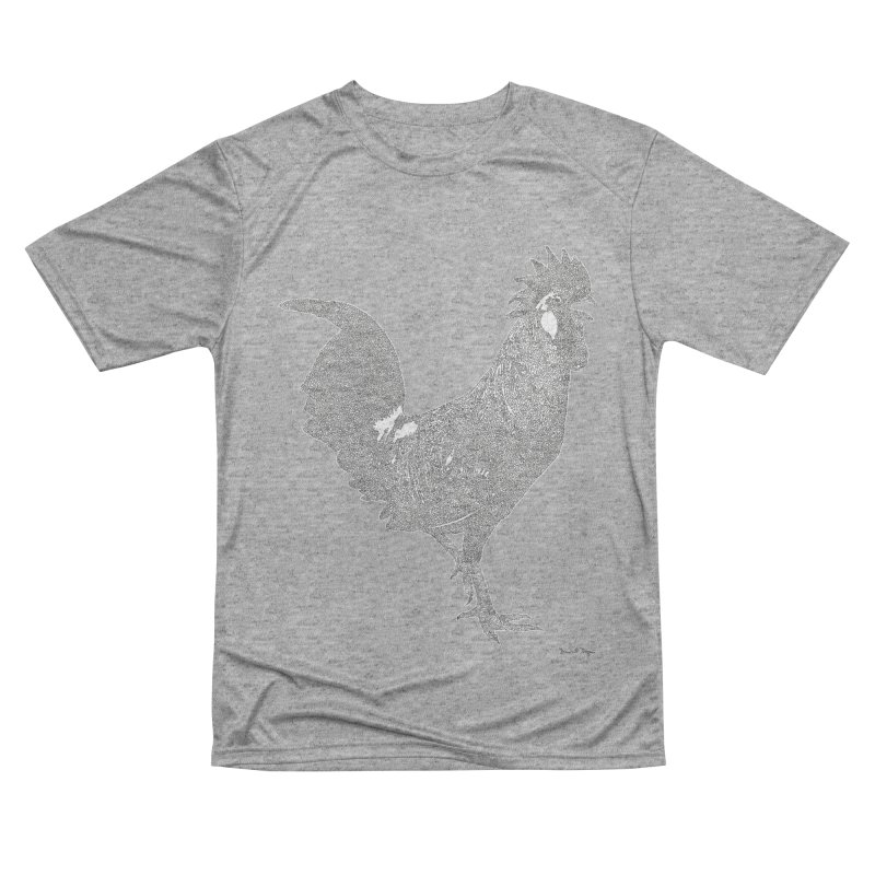 Cock - One Continuous Line Men's Performance T-Shirt by Daniel Dugan's Artist Shop