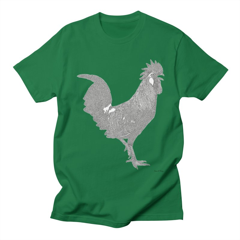 Cock - One Continuous Line Men's Regular T-Shirt by Daniel Dugan's Artist Shop