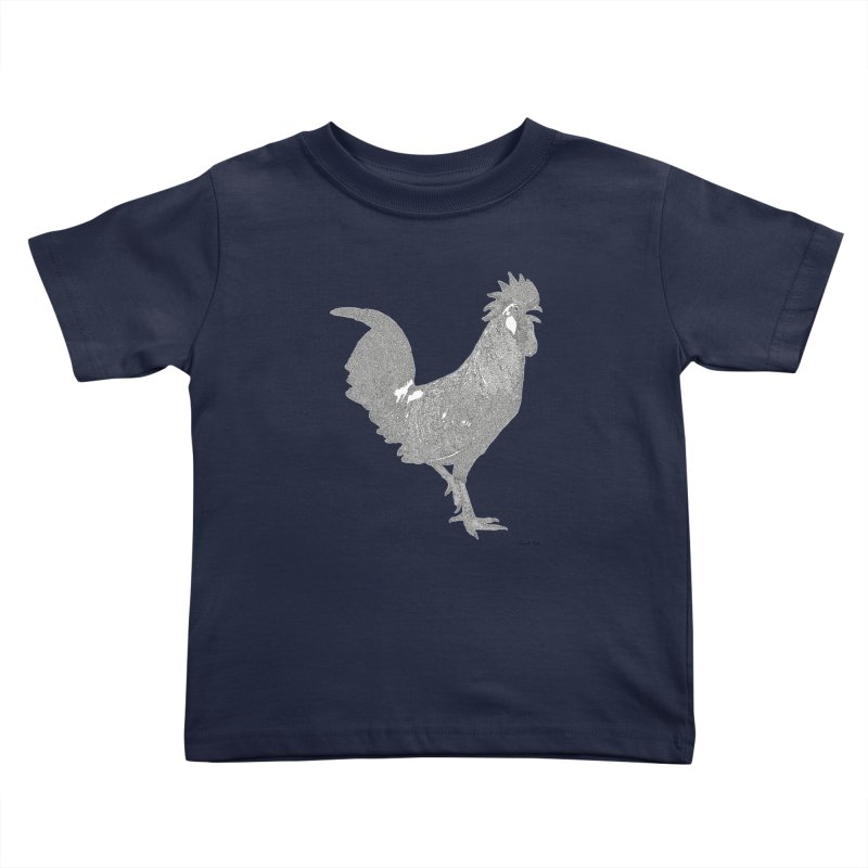 Cock - One Continuous Line Kids Toddler T-Shirt by Daniel Dugan's Artist Shop