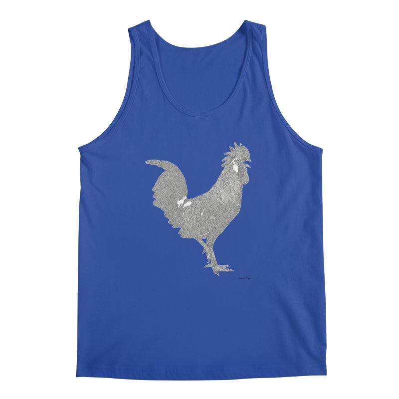 Cock - One Continuous Line Men's Regular Tank by Daniel Dugan's Artist Shop