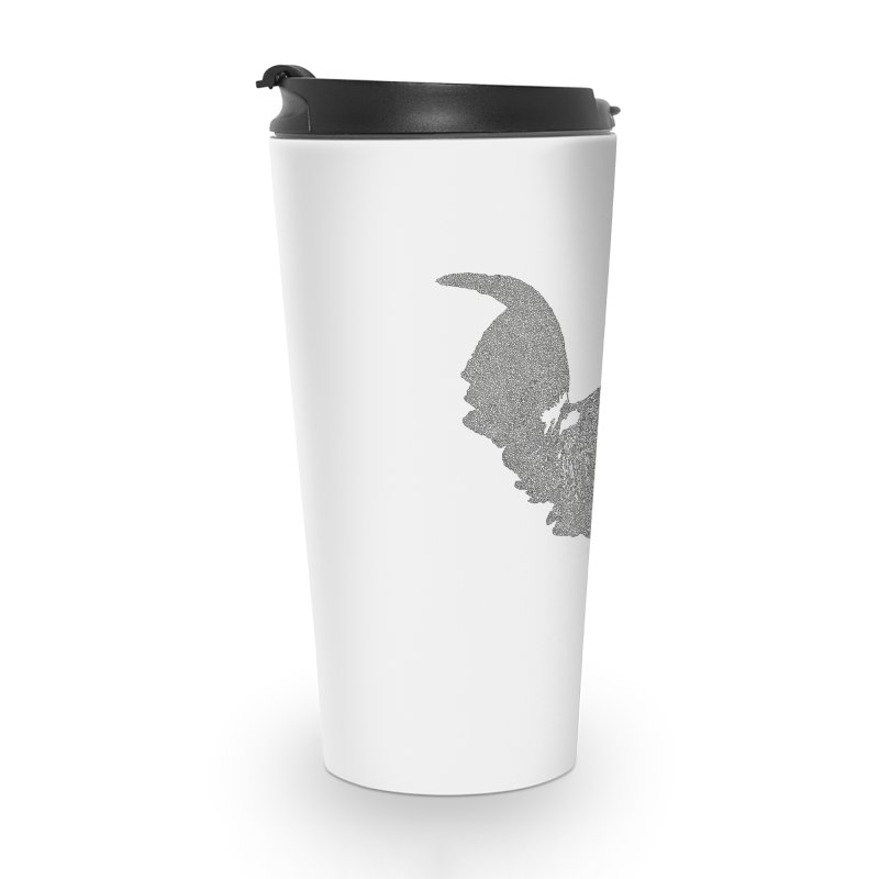 Cock - One Continuous Line Accessories Travel Mug by Daniel Dugan's Artist Shop