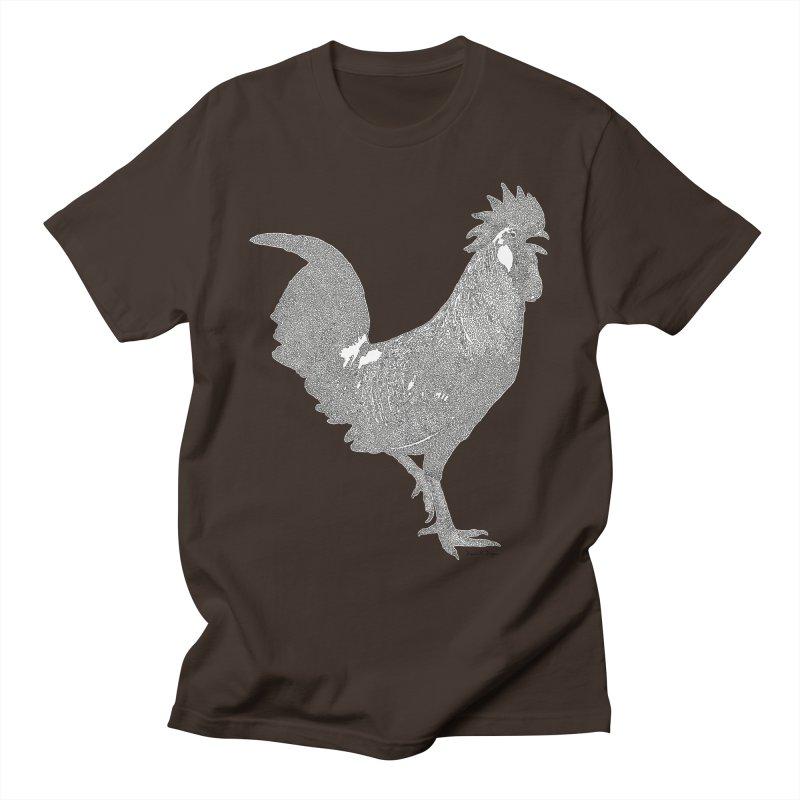 Cock - One Continuous Line Men's T-Shirt by Daniel Dugan's Artist Shop