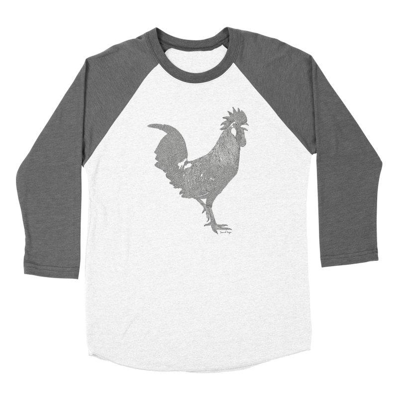 Cock - One Continuous Line Women's Longsleeve T-Shirt by Daniel Dugan's Artist Shop