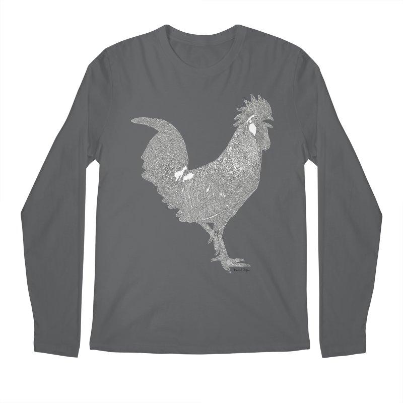Cock - One Continuous Line Men's Longsleeve T-Shirt by Daniel Dugan's Artist Shop