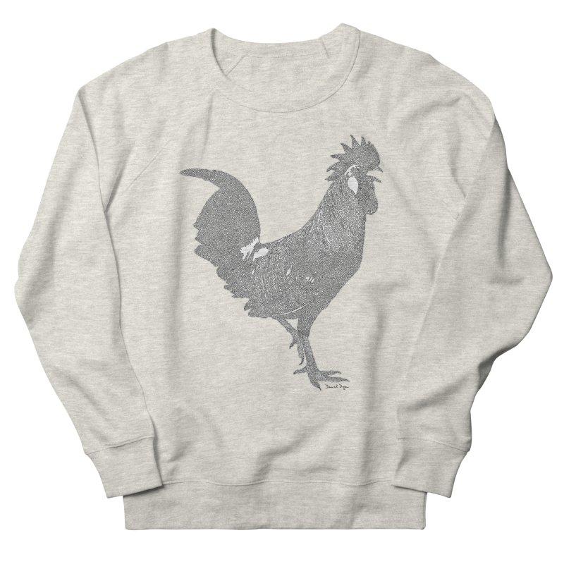 Cock - One Continuous Line Men's Sweatshirt by Daniel Dugan's Artist Shop