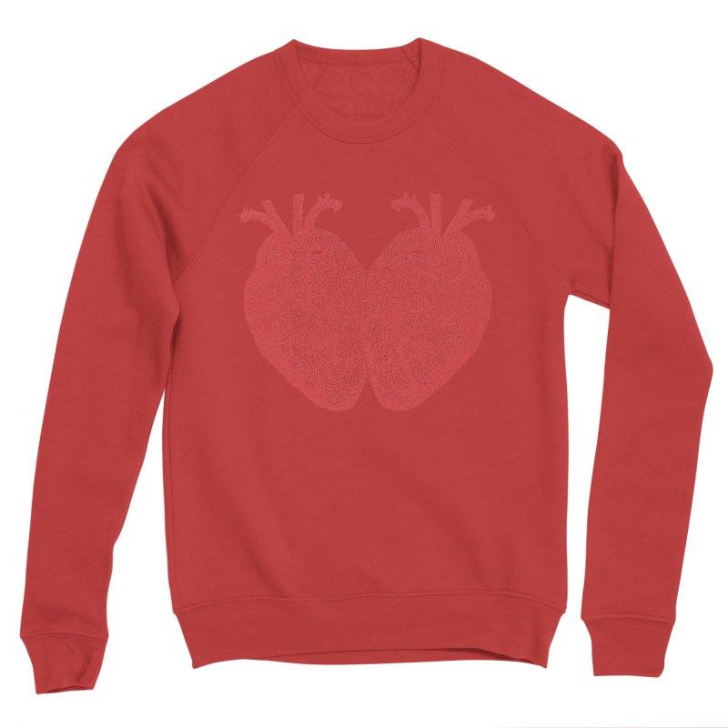 Heart to Heart - One Continuous Line Women's Sponge Fleece Sweatshirt by Daniel Dugan's Artist Shop