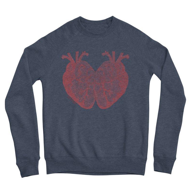 Heart to Heart - One Continuous Line Men's Sponge Fleece Sweatshirt by Daniel Dugan's Artist Shop
