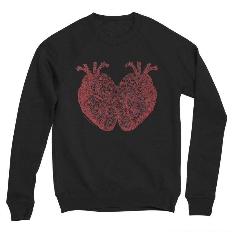 Heart to Heart Women's Sponge Fleece Sweatshirt by Daniel Dugan's Artist Shop