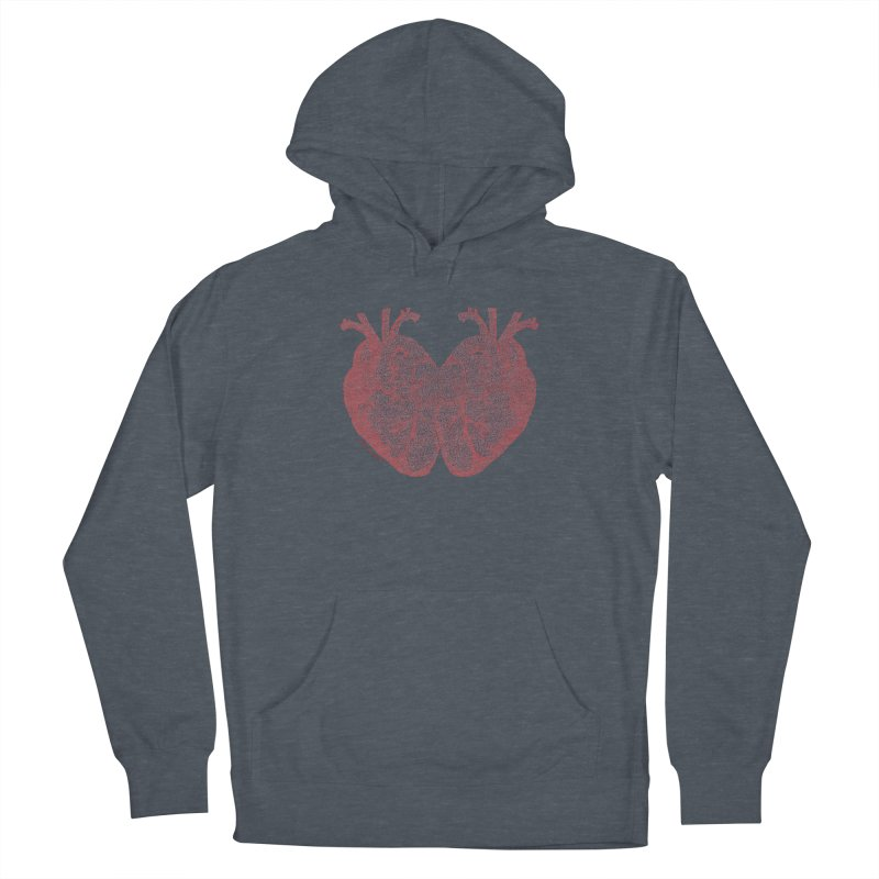 Heart to Heart Women's French Terry Pullover Hoody by Daniel Dugan's Artist Shop