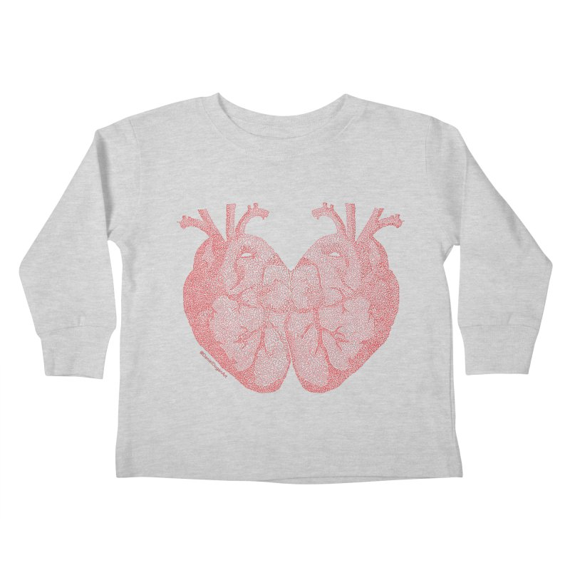 Heart to Heart - One Continuous Line Kids Toddler Longsleeve T-Shirt by Daniel Dugan's Artist Shop