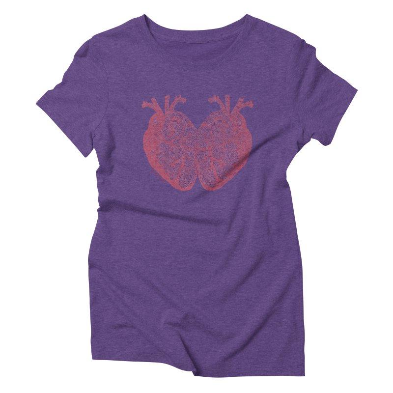 Heart to Heart Women's Triblend T-Shirt by Daniel Dugan's Artist Shop