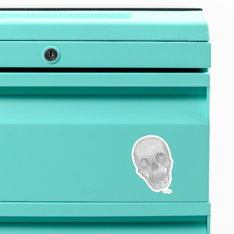 Skull Cocked Accessories Magnet by Daniel Dugan's Artist Shop