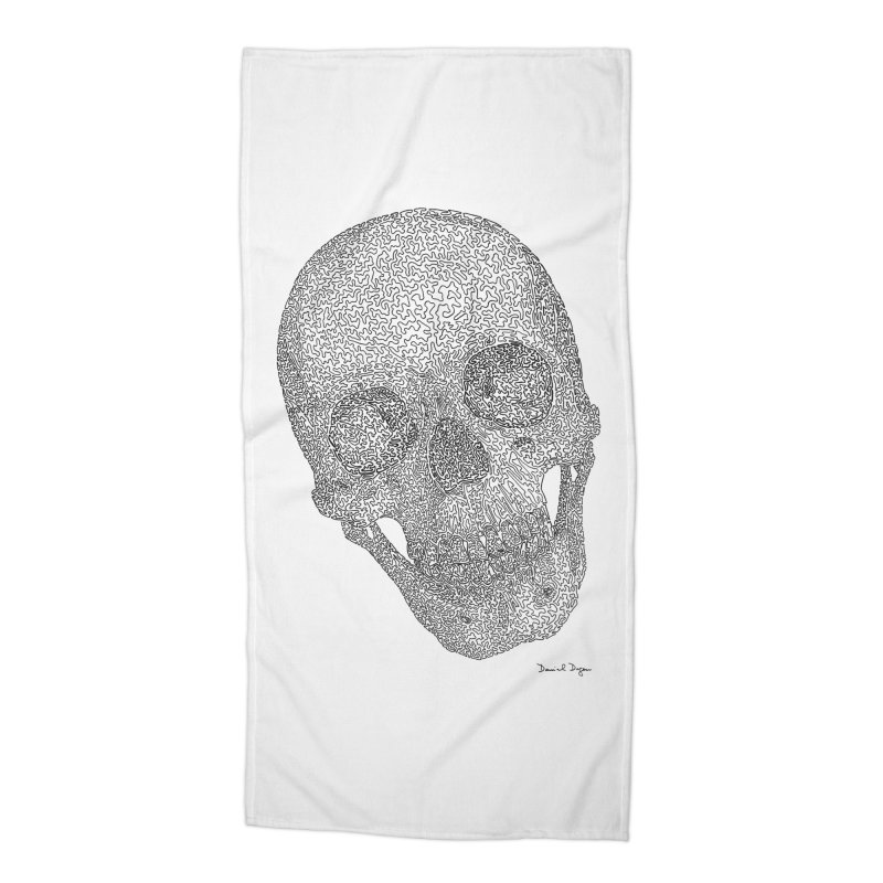 Skull Cocked Accessories Beach Towel by Daniel Dugan's Artist Shop