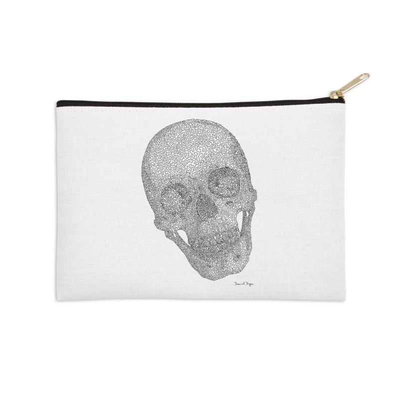 Skull Cocked Accessories Zip Pouch by Daniel Dugan's Artist Shop