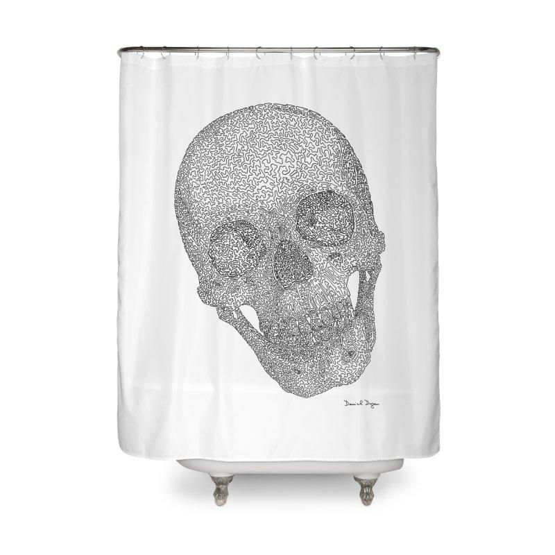 Skull Cocked Home Shower Curtain by Daniel Dugan's Artist Shop