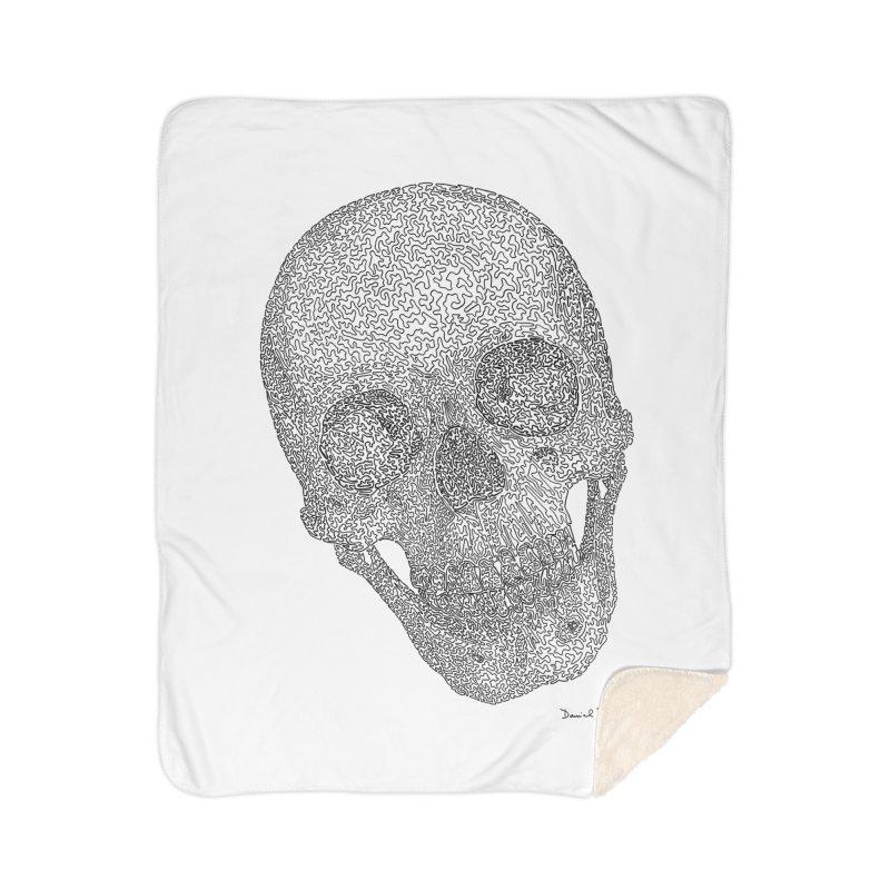 Skull Cocked Home Sherpa Blanket Blanket by Daniel Dugan's Artist Shop