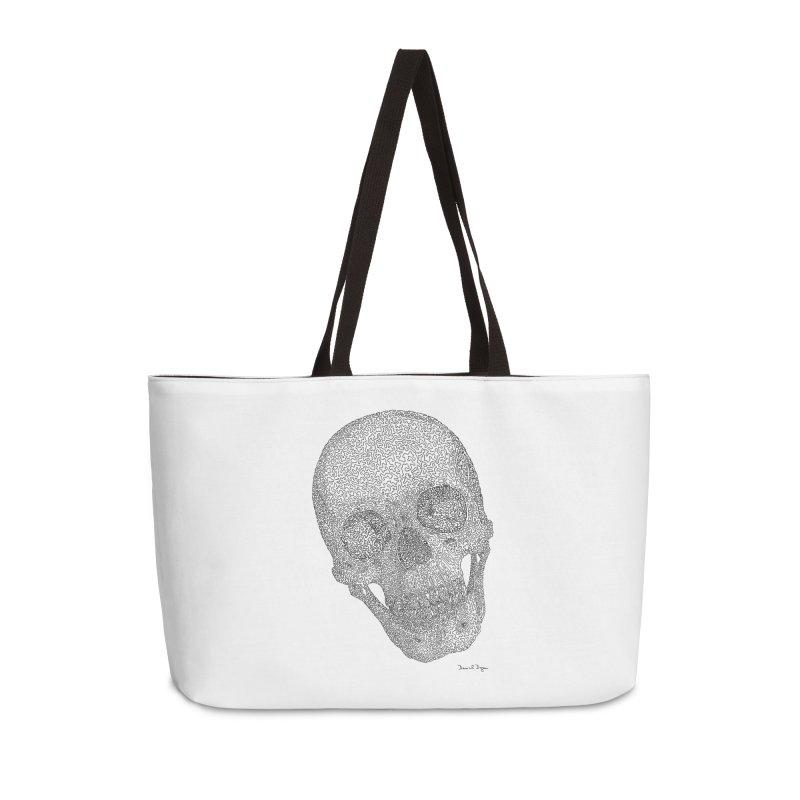 Skull Cocked Accessories Weekender Bag Bag by Daniel Dugan's Artist Shop