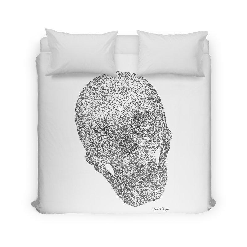 Skull Cocked Home Duvet by Daniel Dugan's Artist Shop
