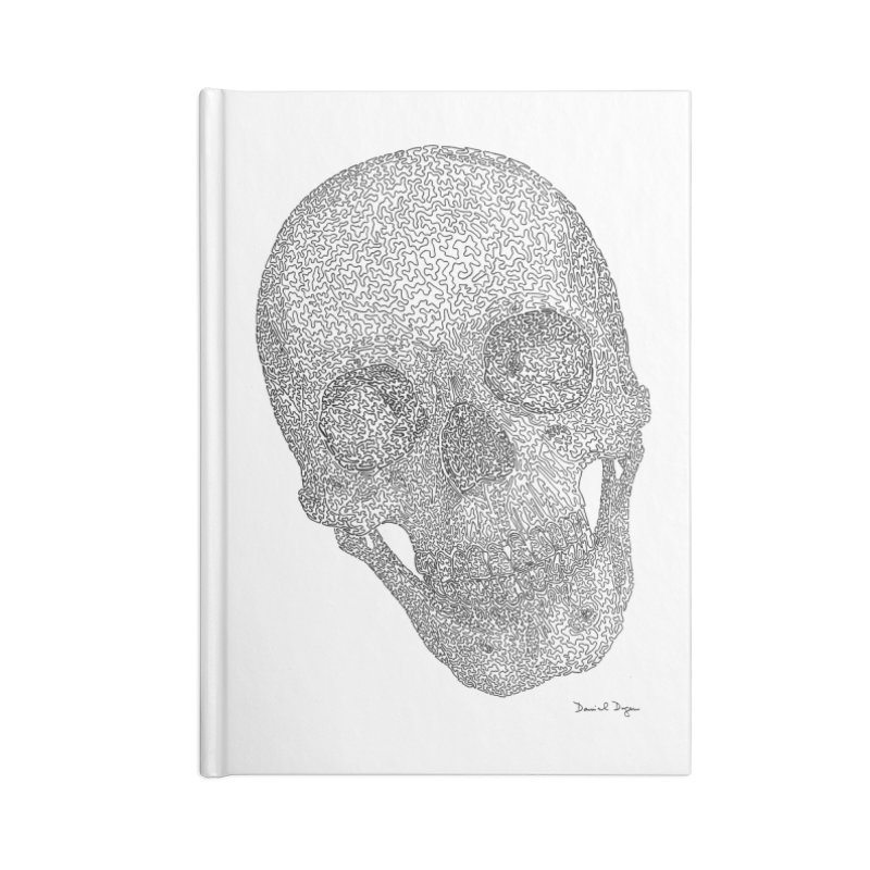 Skull Cocked Accessories Lined Journal Notebook by Daniel Dugan's Artist Shop